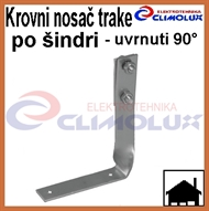 Roof holder for galvanized flat tape for shingles - 90°